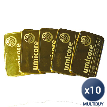 Full 1oz Gold Bar x 10