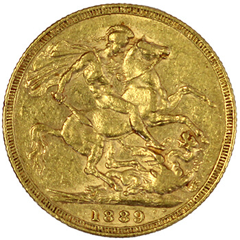 Gold Sovereign - Jubilee Victoria - 1889