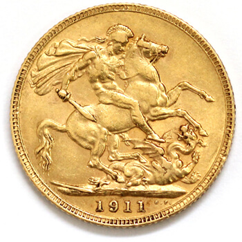 Gold Sovereign - King George - 1911