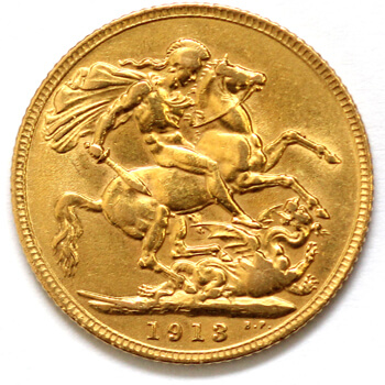 Gold Sovereign - King George - 1913