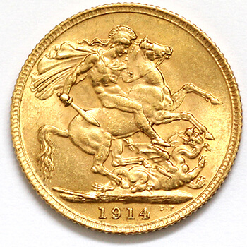 Gold Sovereign - George V - 1914