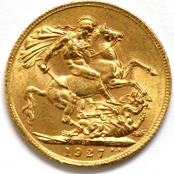 Gold Sovereign - King George - 1927