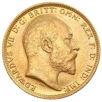 Gold Full Sovereign - King Edward - Head