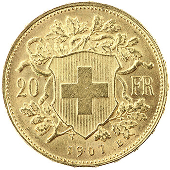 20 Swiss Franc Gold Coin