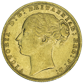 Gold Full Sovereign - Young Victoria