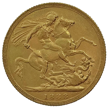 Gold Sovereign - Victoria Jubilee Head 1888 London