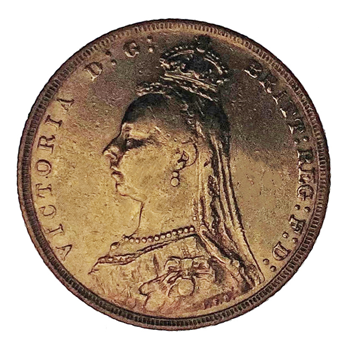 Gold Sovereign - Victoria Jubilee Head 1889 London