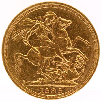 Gold Sovereign - Jubilee Victoria - 1888