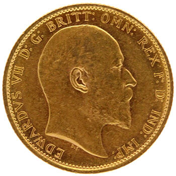 Gold Sovereign - King Edward - 1907