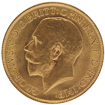 Gold Full Sovereign - King George - Head