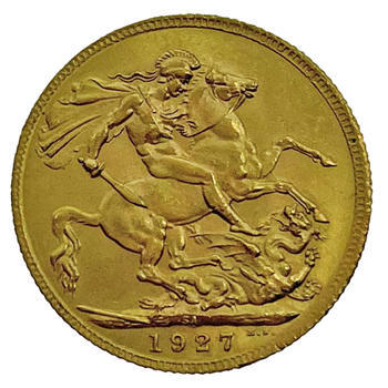 Gold Sovereign - George V- 1927 - South African
