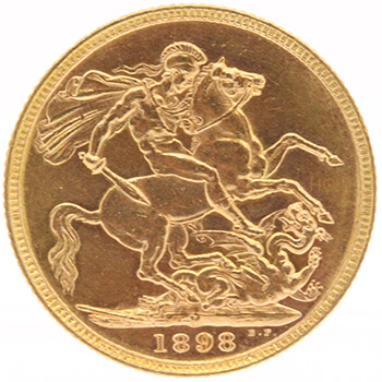 Gold Sovereign -  Veil Victoria