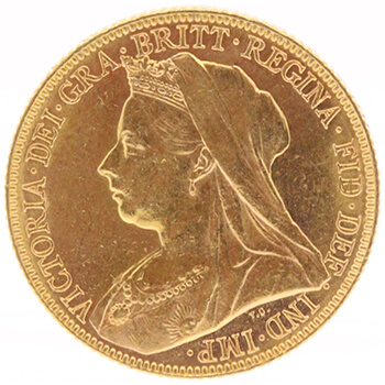 Gold Full Sovereign - Victoria - Veil Head
