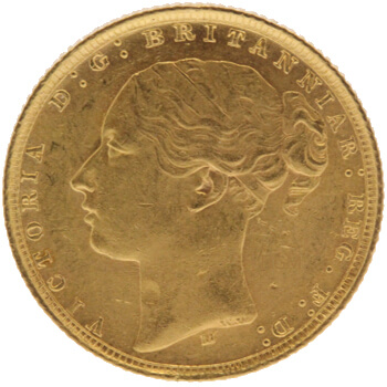 Gold Full Sovereign - Victoria - Young Head