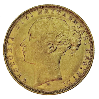 Gold Sovereign - Victoria Young Head 1878 M
