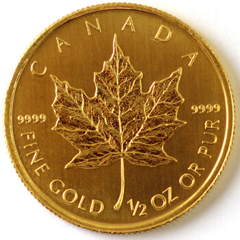 Half Oz Gold Maple Leaf