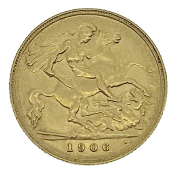 Gold Half Sovereign Edward VII