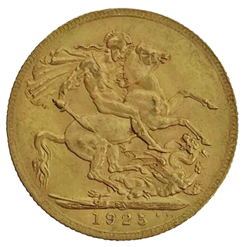 Gold Sovereign - George V- 1925 - South African