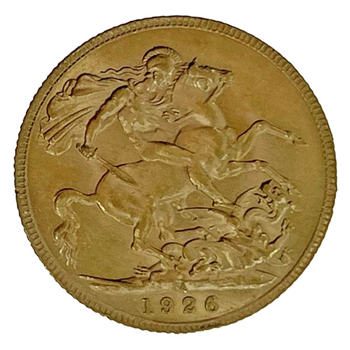 Gold Sovereign - George V- 1926 - South African
