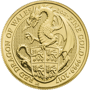 1 oz Gold Queens Beasts Dragon