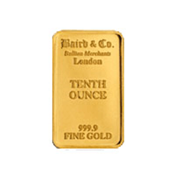 1/10 ounce Gold Bar