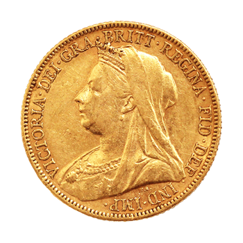 Gold Sovereign - Victoria Old Head - 1897
