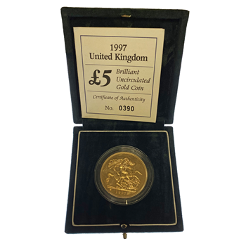 Gold Brilliant Uncirculated £5 Sovereign
