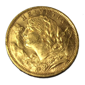 Swiss 20 Franc Gold
