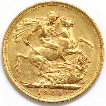 Gold Sovereign - Victoria Old Head 1900 London