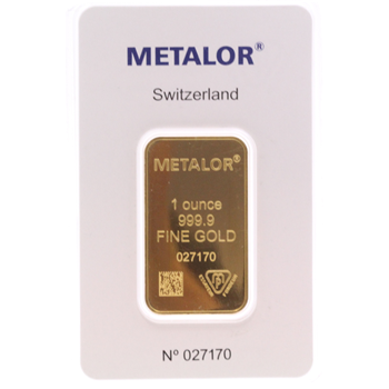 Sealed 1 ounce Gold Bar Metalor