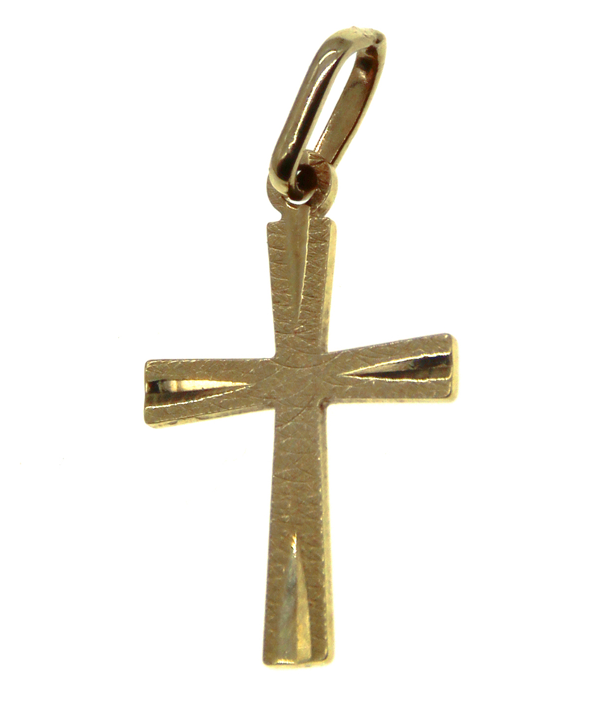 9ct Yellow Gold Mini Cross Pendant
