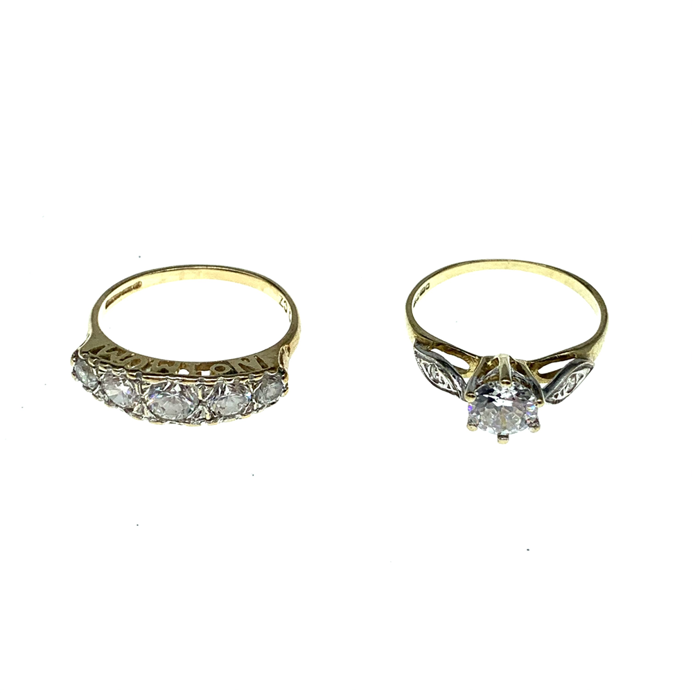 9ct Yellow Gold Assorted CZ Rings