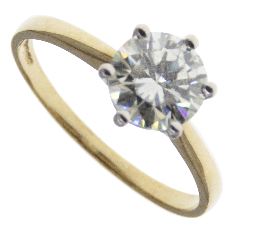 9ct Solitaire CZ Ring