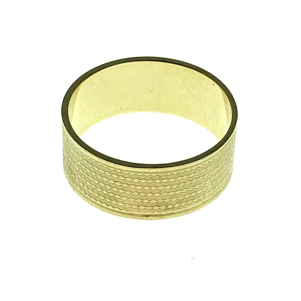 9ct Yellow Gold Patterned Wedding Band