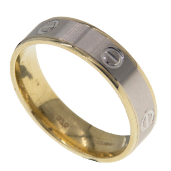 Two Tone Wedding Band 6mm