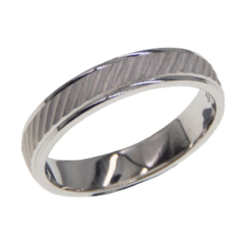 White Gold Fancy Wedding Band