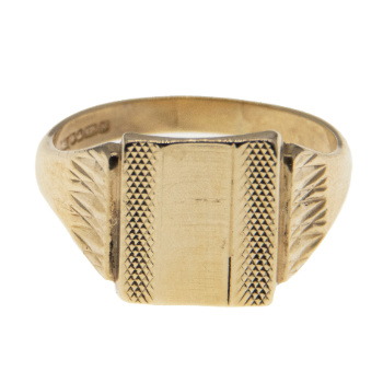 9ct Yellow Gold Gents Signet Ring