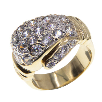 9ct Yellow Gold Gents CZ Boxing Glove Ring