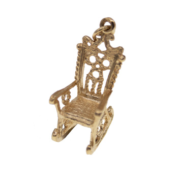 9ct Yellow Gold Rocking Chair Charm
