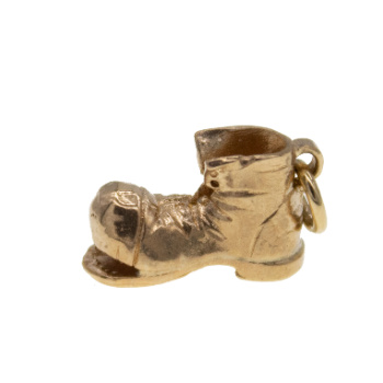 9ct Yellow Gold Small Boot Charm