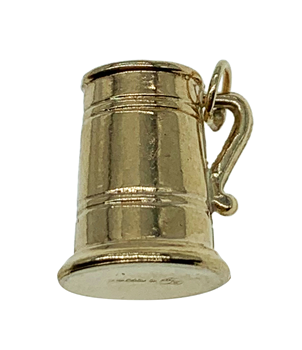 9ct Yellow Gold Beer Tankard Charm