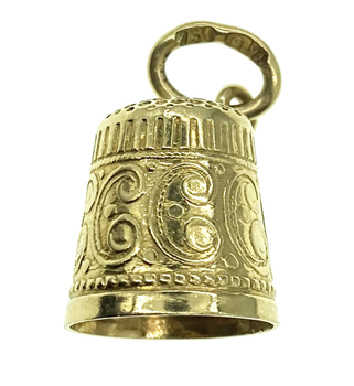 18ct Yellow Gold Thimble Charm