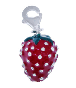 Sterling Silver 925 Strawberry Charm