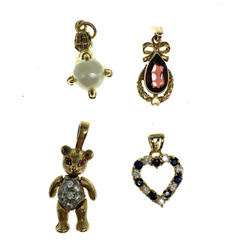 9ct Yellow Gold Assorted Pendants