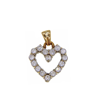 9ct Heart Shaped Pendant