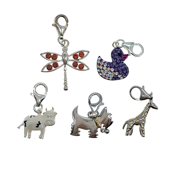 Sterling Silver 925 Assortment Of Clip On Charms