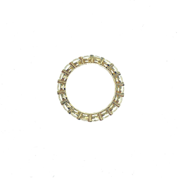 14ct Yellow Gold CZ Full Eternity Ring