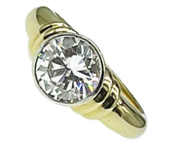 9ct Two Tone CZ Ring