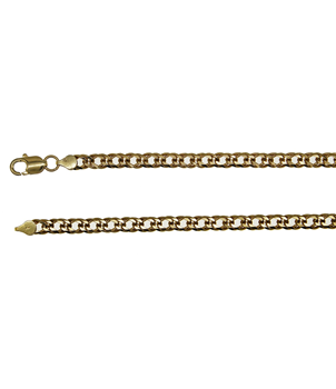9ct Yellow Gold Double Flat Curb Chain