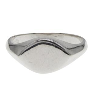 18ct White Gold Men's Signet Ring